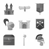 Vector Design Of Heritage And Ancient Icon. Collection Of Heritage And Culture Stock Symbol For Web. poster