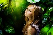 Beautiful Girl in Jungle