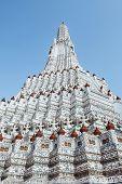 Pagoda At Wat Arun Ratchawararam Ratchaworamahawihan Or Wat Jaeng, Bangkok, Thailand. Beautiful Of H poster