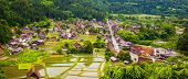 Panorama Traditional And Historical Japanese Village Shirakawago In Gifu Prefecture Japan, Gokayama poster