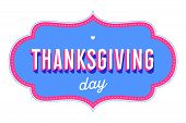 Thanksgiving Day. Greeting Card With Text Thanksgiving Day poster