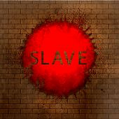 Slave. Brick Abstract Background. Vector Illustration. Eps10