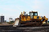 Track-type Bulldozer, Earth-moving Equipment. Land Clearing, Grading, Pool Excavation, Utility Trenc poster
