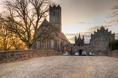 Adare abbey at night in Co. Limerick, Ireland