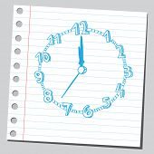 Clock drawing ( noon)