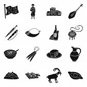Isolated Object Of Heritage And Originality Icon. Collection Of Heritage And Traditions Stock Vector poster