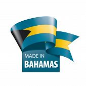 Bahamas Flag, Vector Illustration On A White Background poster