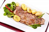 Grilled Steak And New Potatoes