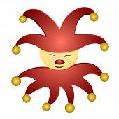 detailed illustration of a jester carnivals mascot, eps 10