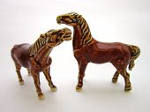 Duo of ceramic horses
