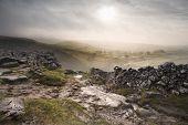 Sunrise Over Malham Dale In Yorkshire Dales National Park