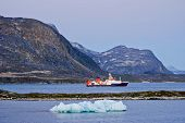 Vessel in Arctic Harbor