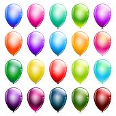 Set Of Glossy Balloons