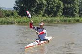 Top International Paddler, Michael Odvarko, Prepares For The Start Of The Unlimited Dusi Canoe Marat
