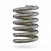 stock photo of helix  - 3d chorme spring - JPG