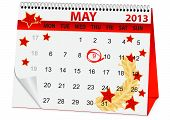 Icon Calendar For May 9