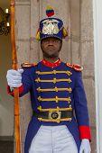 Government guards, home of Ecuador's president.