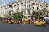 Busy Road Junction In Calcutta