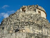El Caracol  Is Ancient Maya Observatory In Archaeological Site Of  Chichen Itza, Yucatan, Mexico