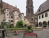 Stadtresidenz Ebersmünster und Kirche in selestat