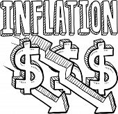 Inflation decreasing sketch