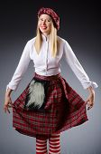 image of kilt  - Scottish traditions concept with person wearing kilt - JPG