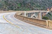 stock photo of bixby  - Famous Bixby Bridge in Big Sur California - JPG
