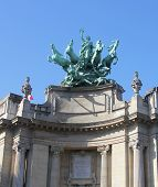 Quadriga on top of  Le Grand Palais in Paris