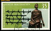 Vintage  Postage Stamp.  Mauthausen Memorial.