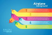 pic of flutter  - airplane colored background takeoff list element vector - JPG