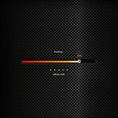 Progress Bar - Orange Trendy Design On Dark Background