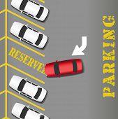 Lote de estacionamento reservado local para carro de sucesso do negócio