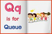 Alphabet worksheet for the letter Q