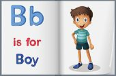 Alphabet worksheet for the letter B