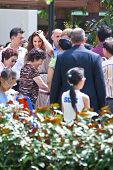 SINGAPORE, SEPT 12 - Kate Middleton meeting her well wishers at the Queenstown housing estate during her tour of South East Asia with her husband Prince William, September 12, 2012 in Singapore.