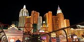 LAS VEGAS- DEC 27 : New York - New York Hotel & Casino on December 27 , 2012 in Las Vegas, NV, USA .The casino had a club called ROK Vegas, but it closed on April 2, 2012 due to money issues.