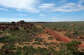 Outback Australia Red Rocks In Bush