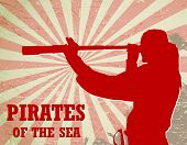 image of spyglass  - pirates of the sea  - JPG