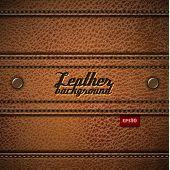 Leather background - eps10
