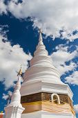 White Pagoda And Blue Sky