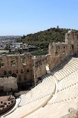Wall Of Ancient Odeon Of Herodes Atticus