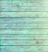 stock photo of aquamarine  - Aquamarine Wooden Wall Texture Background Stock Photo