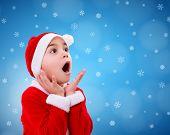 Surprised Christmas Boy Wondering