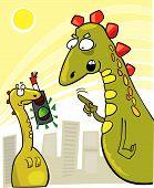 Young Godzilla Rude