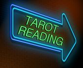 Tarot Reading Concept.