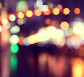 City Lights Blurred  Bokeh