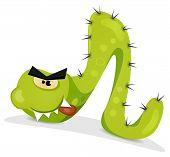 Green Caterpillar Character