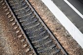 Railroad With Station Platform Texture
