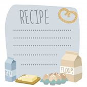 image of recipe card  - vector recipe card - JPG