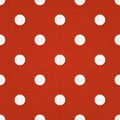 Red spotted pattern. Vector red seamless spotted pattern background. Red linen spotted textile patte